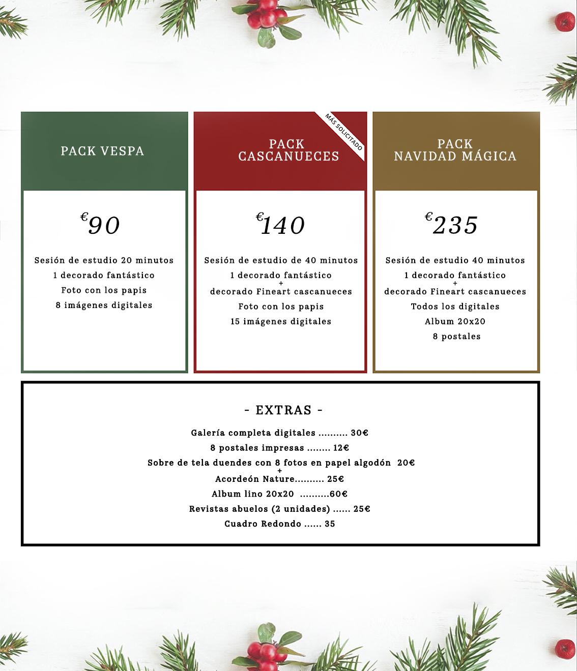Precio sesiones Navidad